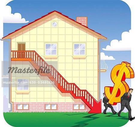 Untergang Immobilienpreise