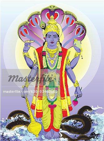 Hindu god Vishnu