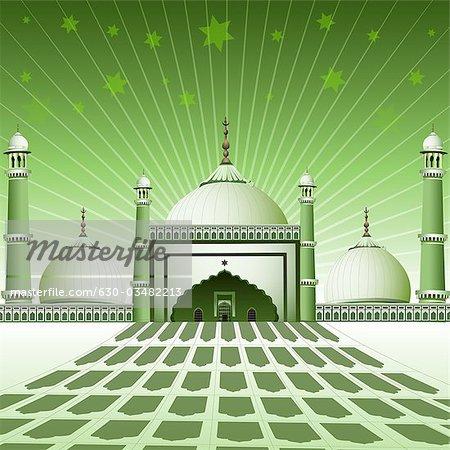Facade of a mosque, India