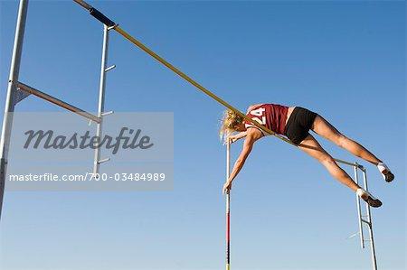 Teenager Pole Vaulter