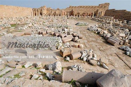 Severan forum, Leptis Magna, UNESCO World Heritage Site, Libya, North Africa, Africa