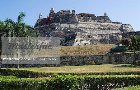 Fort San Felipe, fort colonial espagnol datant du XVIe siècle, patrimoine mondial UNESCO, Cartagena, Colombie, Amérique du Sud