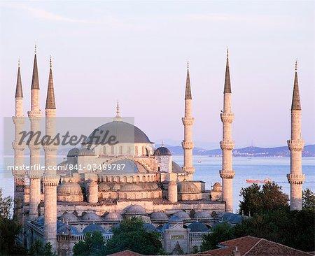 La mosquée, Site du patrimoine mondial de l'UNESCO, Istanbul, Turquie, Europe bleue