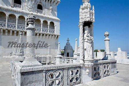 Tour de Belem, patrimoine mondial UNESCO, Belém, Lisbonne, Portugal, Europe
