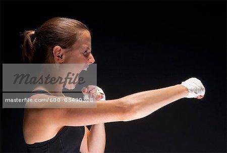 Portrait de boxeur