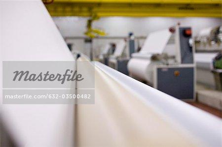 Coating machine in fabric coating plant