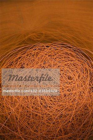 Département de fabrication textile composite recyclable d'usine, fil enduit