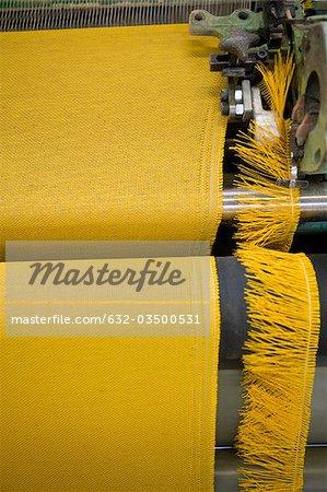 Usine de revêtement tissu tissage département, selvage tissu composite textile