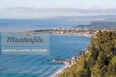 Coast, Giardini Naxos, Sicily, Italy, Mediterranean, Europe