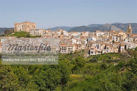 Vue de Castelbuono, Sicile, Italie, Europe
