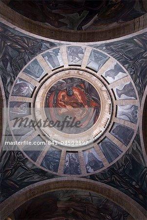 El Hombre de Fuego (Man of Fire), le plus remarquable des peintures murales peintes par Jose Clemente Orozco entre 1936 et 1939, à l'Instituto Cultural de Cabanas, construite entre 1805 et 1810, Guadalajara, Jalisco, Mexique, Amérique du Nord