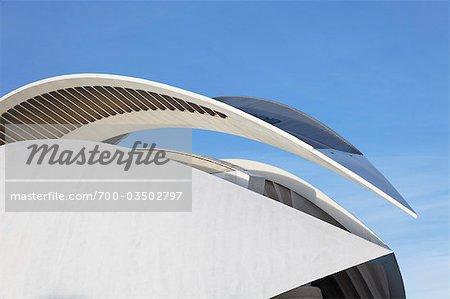 Palau de les Arts Reina Sofia, cité des Arts et Sciences, Valence, Espagne