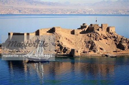 Egypt, Taba, Pharaoh's island.