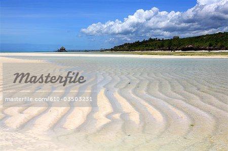 Tanzanie, Zanzibar (île d'Unguja), Pwani Mchangani beach.