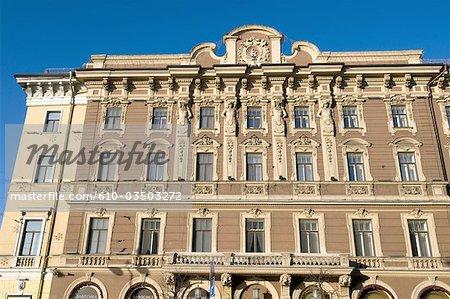 Russie, Saint-Pétersbourg, Nevsky prospekt, hotel.