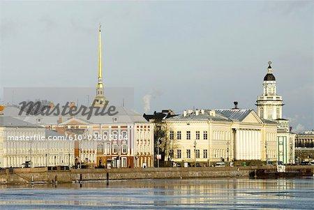 Île Vassilievsky, Saint-Pétersbourg, la Russie.