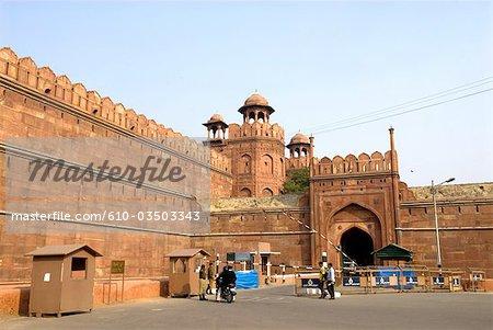 India, New Delhi, red fort.