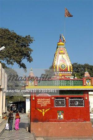 Inde, Haryana, Kurukshetra, Sannihit Sarovar, temple hindou.