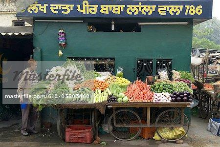 India, Punjab, Patiala, selling vegetables.