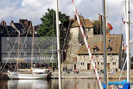 France, Normandy, Honfleur, old basin, lieutenance