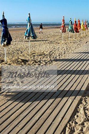 France, Normandie, Trouville sur Mer, la plage