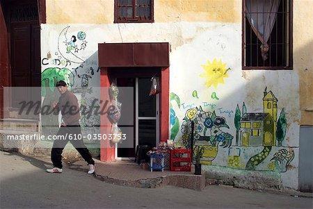 Boutique de Tanger, Maroc,