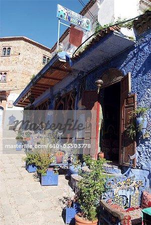 Morocco, Chefchaouen, medina, restaurant