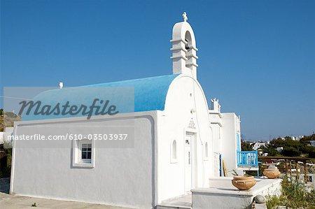 Grèce, Mykonos, Cyclades, Hora, chapelle