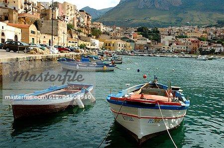 Italie, Sicile, Iles Eoliennes, Castellammare del golfo