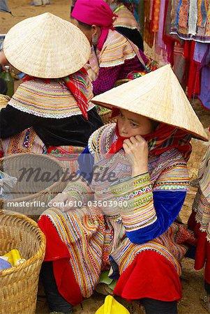 Vietnam, Bac Ha, marché de pouvez Cay, ethnie Hmong