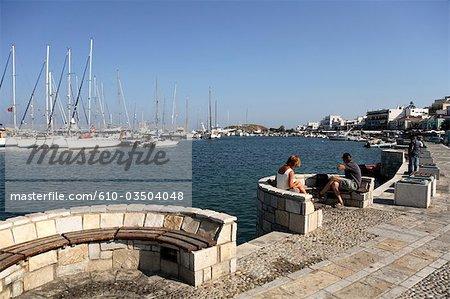 Grèce, Cyclades, Mykonos, port de Hora