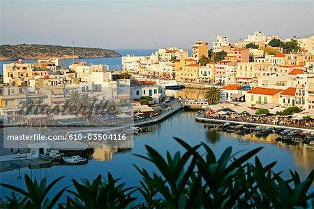 Grèce, Crete, Agios Nikolaos, lac Voulismeni