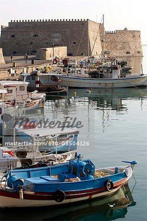 Port d'Héraklion, Crète, Grèce