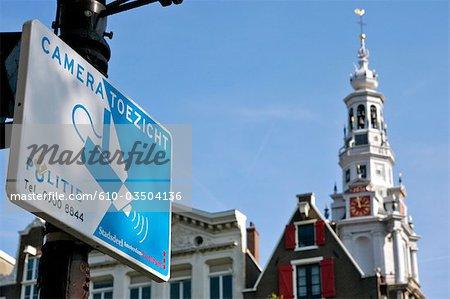 The Netherlands, North Holland, Amsterdam, Zuidekerk, surveillance camera