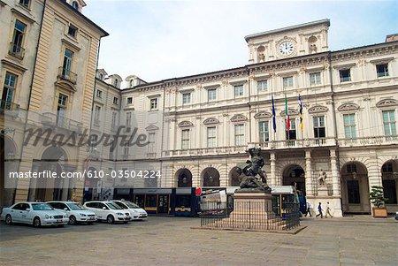 Hôtel de ville de Turin, Italie,