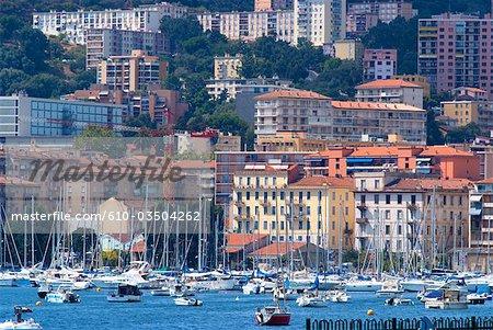 France, Corse, le port d'Ajaccio