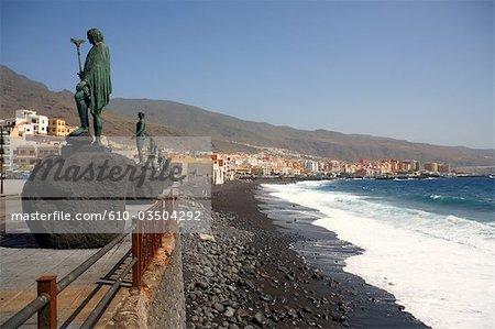 Spain, Canary islands, Tenerife, Candelaria, statues