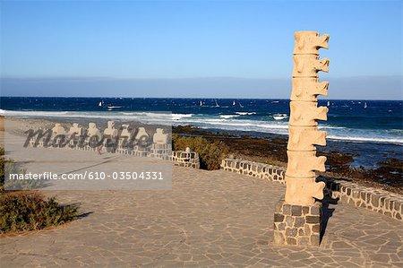 Espagne, Iles Canaries, Tenerife, el medano, sculpture