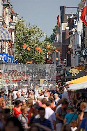 The Netherlands, South Holland, Gouda, pedestrian street