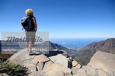 Spanien, Kanarische Inseln, Teneriffa, Wanderer
