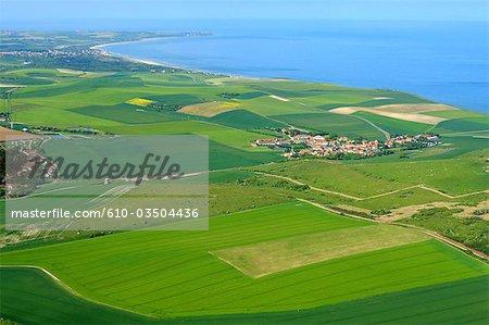 France, Pas-de-Calais, bay of Wissant and the cap Gris-Nez in the background