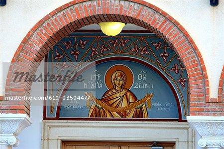 Détail de Chypre, Limassol, d'une église orthodoxe