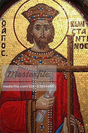 Cyprus, Larnaca, Stavrovouni monastery, mosaics