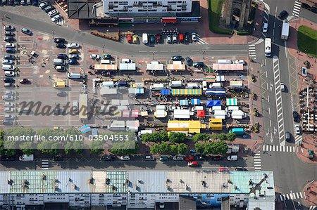 Vue aérienne de Pas-de-Calais, Calais, France