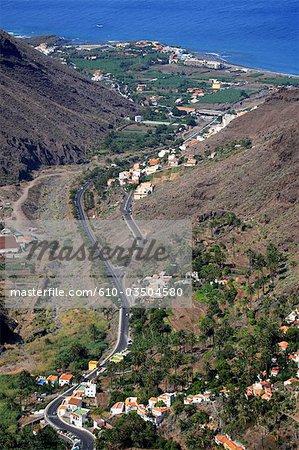 Espagne, Iles Canaries, la Gomera, Valle Gran rey