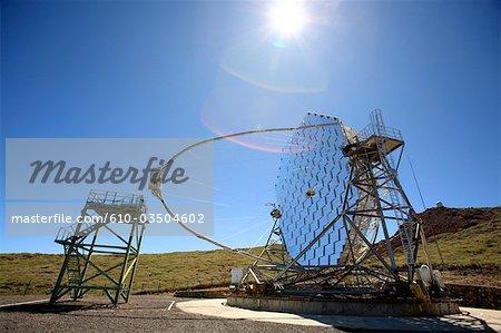 Spanien, Kanarische Inseln, La Palma, Roque de Los Muchachos, MAGIC-Teleskop