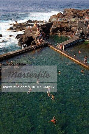 Espagne, Iles Canaries, La Palma, piscine