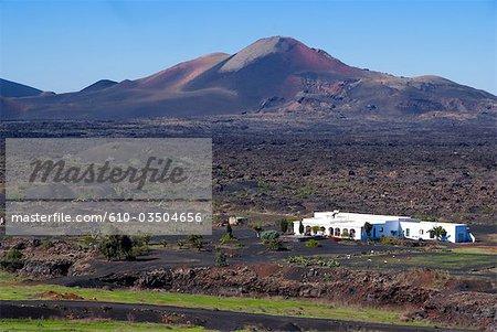 Spanien, Kanarische Inseln, Lanzarote, La Geria Landschaft