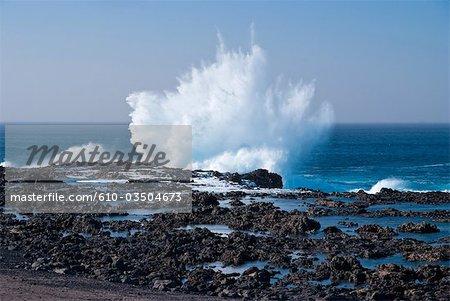 Spain, Canary islands, Lanzarote, rockbound coast