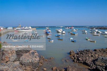 Espagne, Iles Canaries, Lanzarote, port de Orzola